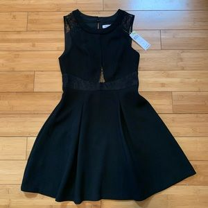 BCBGeneration Black Dress with Lace Details